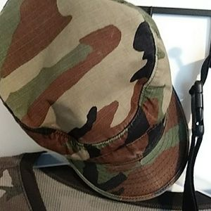 Time and Tru Other - Army look combo shirt, cap, and fanny pack